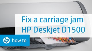 Fixing a Carriage Jam - HP Deskjet D1500 Printer