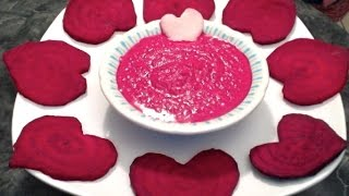 Healthy Hearts For Valentines Day With A Veggie Dip/salad Dressing