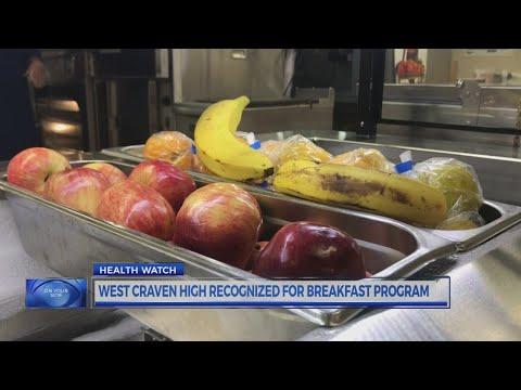 West Craven High School honored for breakfast program