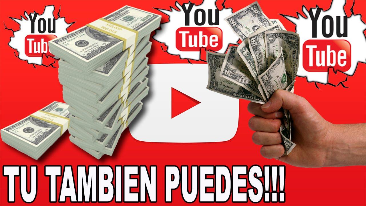 Resultado de imagen para ganar dinero en youtube