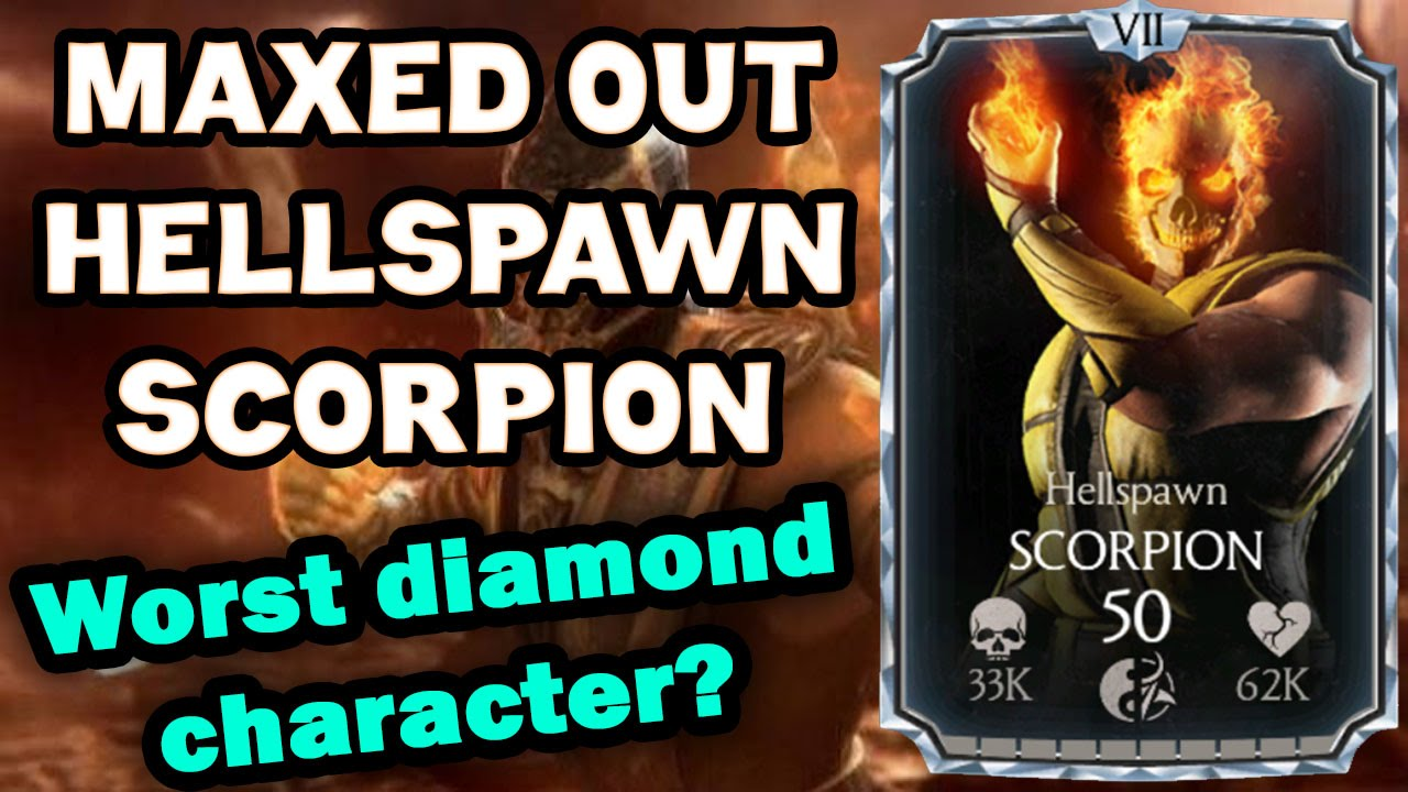 Hellspawn Scorpion MAXED OUT in MKX Mobile 1 9  All stats and special moves!