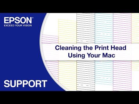 Epson EcoTank   Cleaning the Print Head via Mac