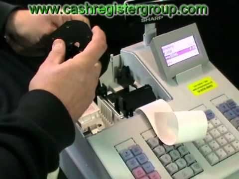 sharp xe a207w xe a207b cash register how to install thermal paper rolls into the printer. Black Bedroom Furniture Sets. Home Design Ideas