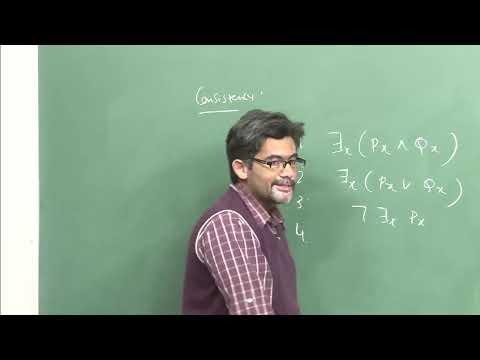 Mod-01 Lec-40 Semantic Tableaux Method for Predicate Logic