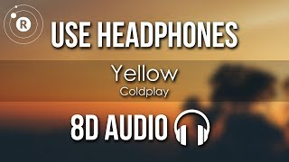 (8D AUDIO) Yellow - Coldplay Use headphones/earpods for the best ex...