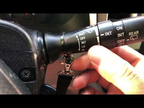 TOYOTA SIENNA - Windshield Wipers Operation Controls