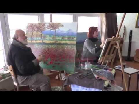 Huzurevi ressamların ilham kaynağı oldu