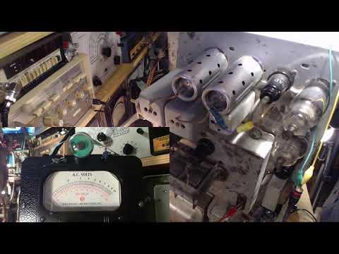Sparton 1567 Huge Tube Radio Video #35 - Final IF Alignment