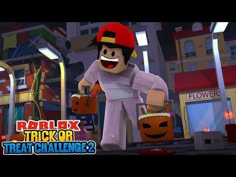 ROBLOX - THE ROBLOX TRICK OR TREAT CHALLENGE, PART 2!!