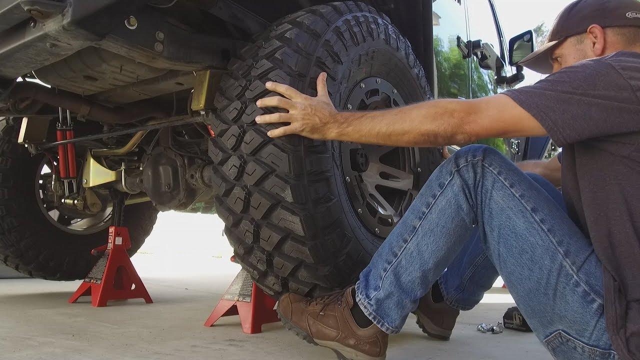 "All Terrain Tires >> Mounting New 37"" Maxxis Razr Tires on the Jeep Wrangler JKU - YouTube"