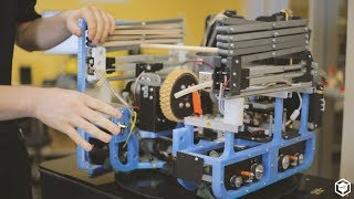 Competing in FIRST Robotics with a 3D Printed Robot