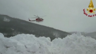 Raw  Rescuers Struggle to Reach Avalanche Hotel