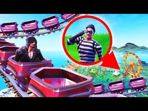 Hiding In A THEME PARK! (Fortnite Hide And Seek)