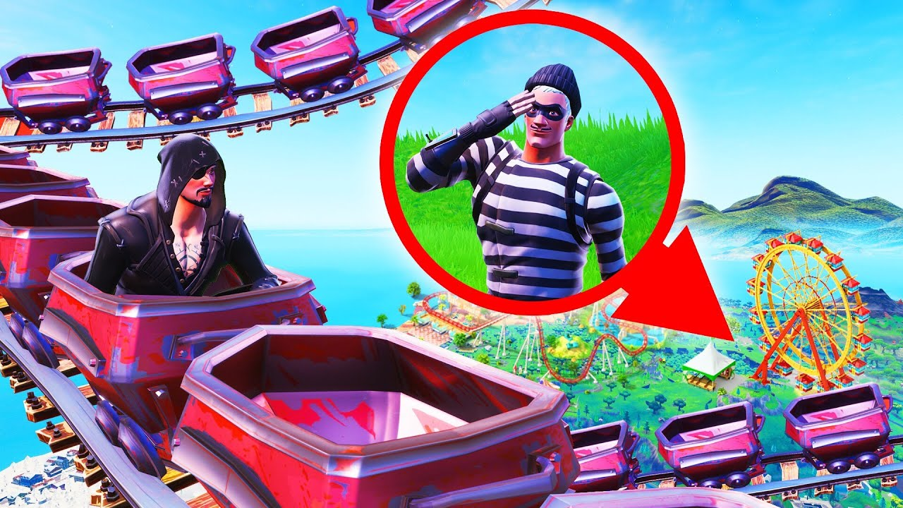 Hiding In A THEME PARK Fortnite Hide And Seek  Jelly