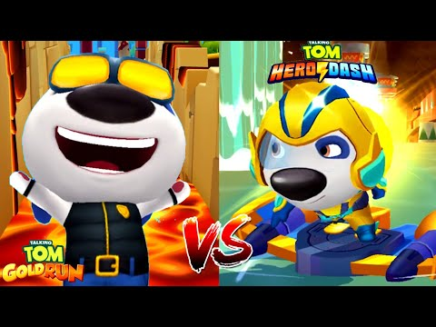 Talking Tom Gold Run VS Talking Tom Hero Dash: Помощник Шерифа Хэнк VS Супер Хэнк!