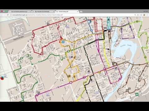 How to read Peterborough ontario Bus map