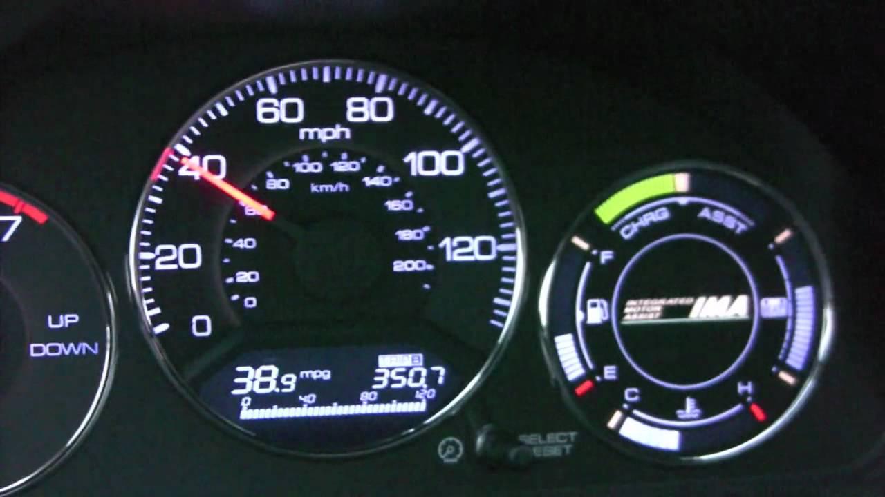 Honda Civic Hybrid 0 60 And Ima Battery