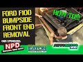 Bumpside F100 grille and fender removal for cab mount replacement Epsidoe 373 Autorestomod