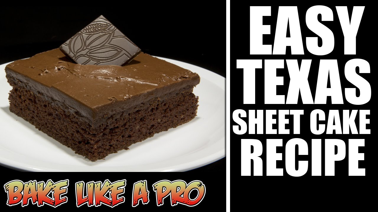 Easy Chocolate Texas Sheet Cake Recipe - YouTube
