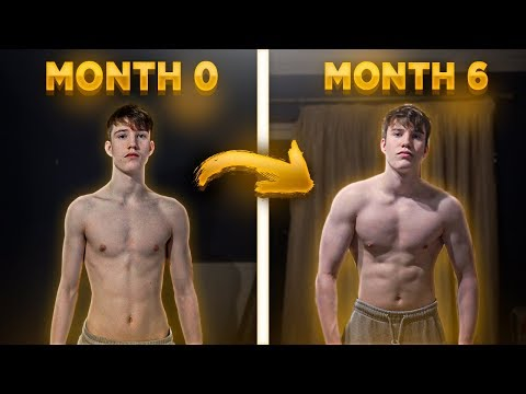 6 Month Body Transformation From Skinny To Less Skinny