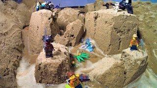 LEGO DAM BREACH - TOTAL FLOOD AND SAND DESTRUCTION