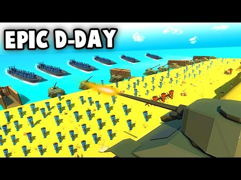 MASSIVE D-Day Landing!  BEACH INVASION (Ancient Warfare 3 Gameplay)