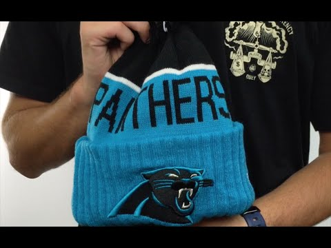 Panthers  2015 STADIUM  Blue-Black Knit Beanie Hat by New Era - YouTube 2eecbee1a62