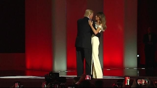 Donald and Melania Trump have 1st dance at inauguration ball