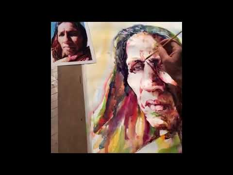 Watercolor Portrait Painting Demo in IWS Nepal - Artist Atanur DOĞAN - Artists Site Screen