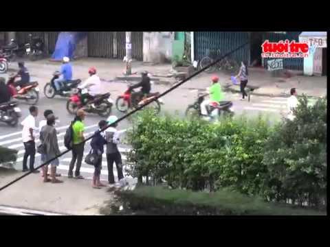 An open-air drug market in Saigon