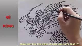 HÌNH RỒNG ĐẸP. VIDEO VẼ CON RỒNG - DRAWING DRAGON