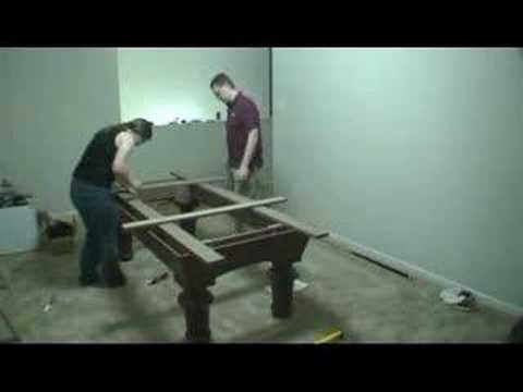 Building A Pool Table In Time Lapse
