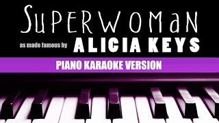 Superwoman (Piano Version) - Alicia Keys | KARAOKE LYRICS