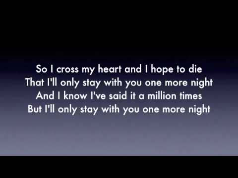 One more night - maroon 5 ( Lyrics ) perfect audio