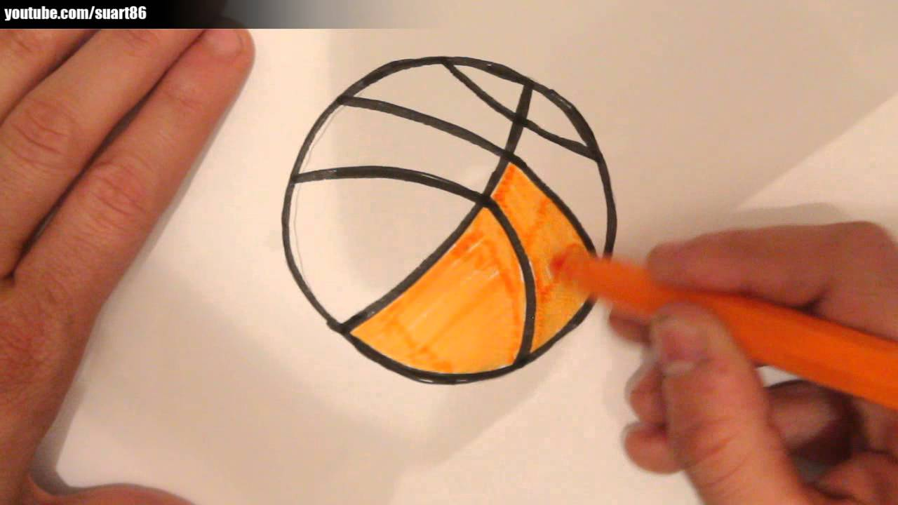 Como dibujar un balon de basquetbol - YouTube