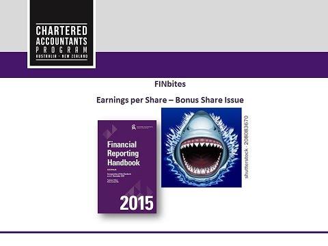 FINBites: Earnings Per Share - Bonus Issue