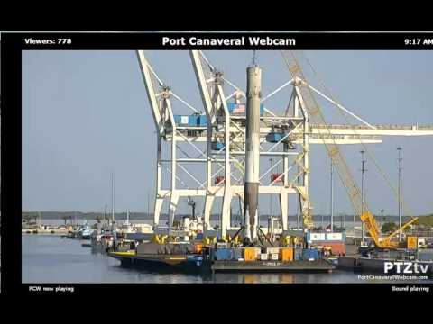 spacex f9 1st stage port canaveral webcam youtube. Black Bedroom Furniture Sets. Home Design Ideas