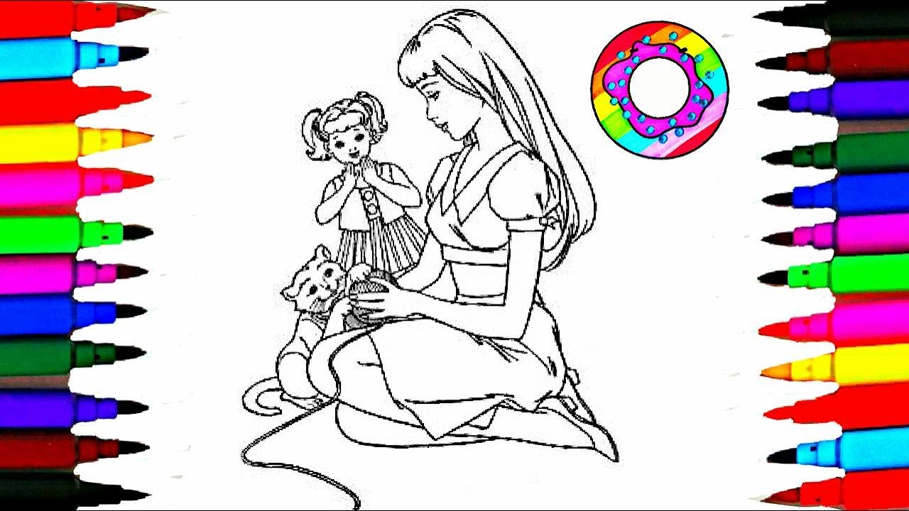 Coloring Pages Barbie And Baby Kelly Coloring Drawing
