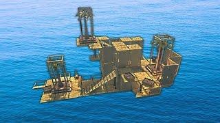 BUILDING A FLOATING ISLAND! (Raft)