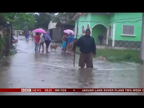 Extreme weather 2018 - Hurricane Michael (Honduras) - BBC News - 9th October 2018