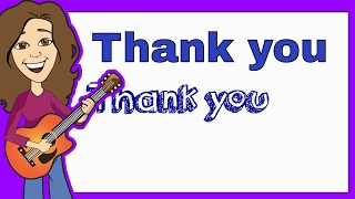 Graduation Song Lyrics to Thank You by Patty Shukla | Children's Music for Preschoolers