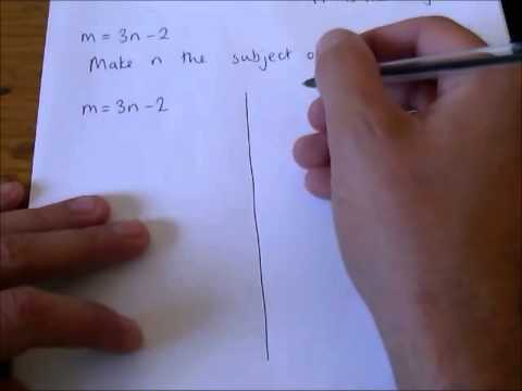 How to - change the subject of a formula (1)