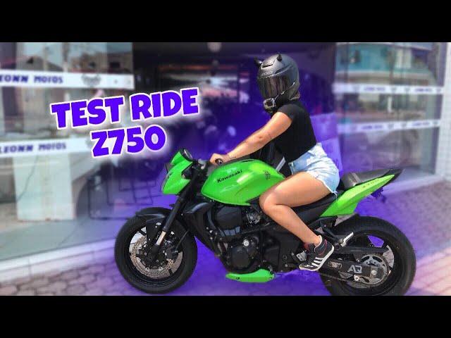 TEST RIDE NA KAWASAKI  Z750 - Thays Rx