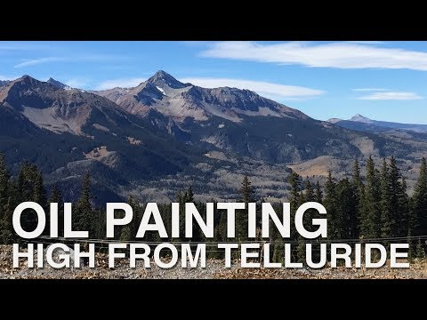 High From Telluride Complete Oil Painting
