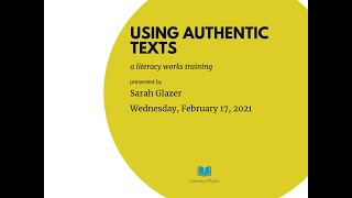 Using Authentic Texts