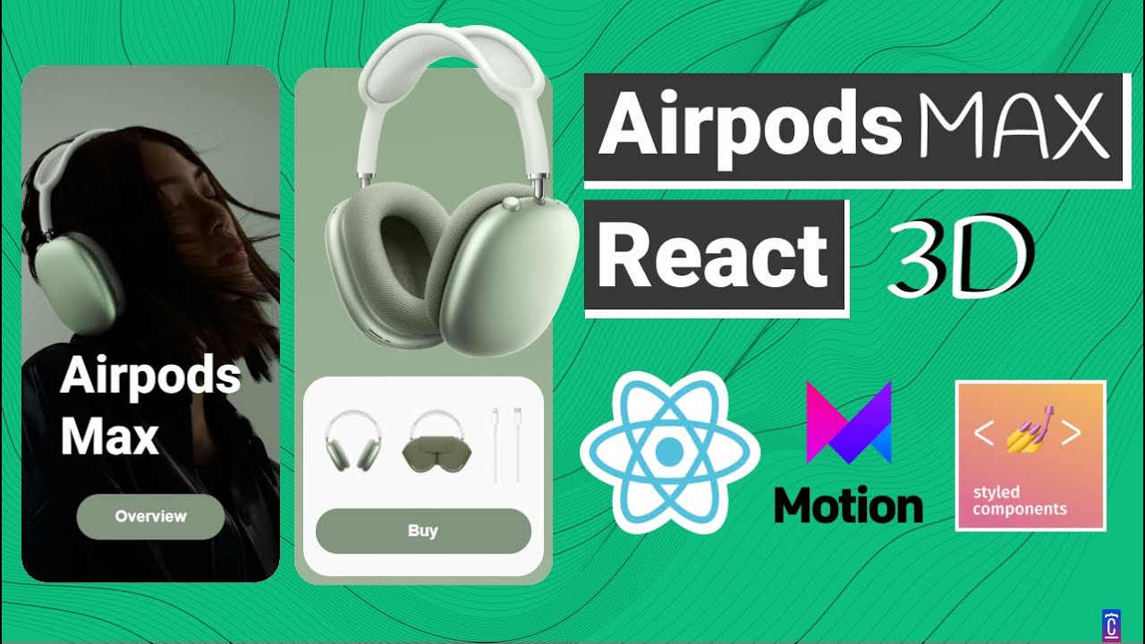 Create Stunning Airpods Max 3D Animated Card on React