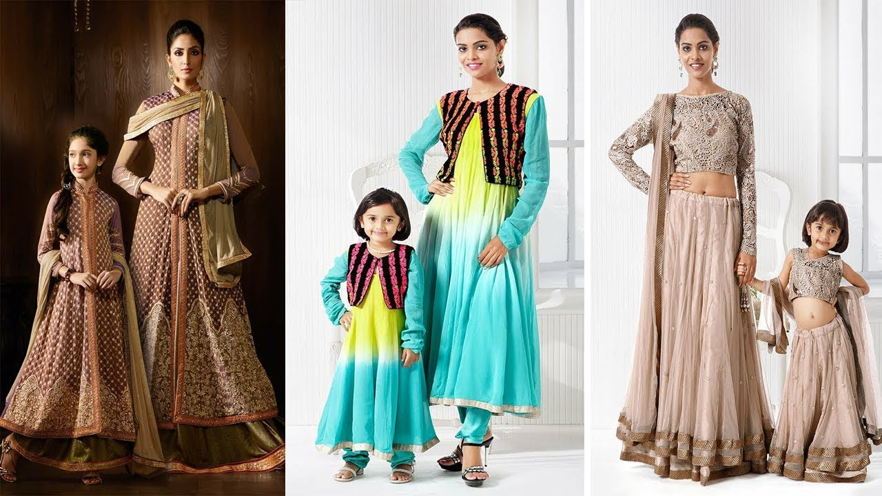 Latest Mom And Daughter Indian Ethnic Wear Designer Party Wear