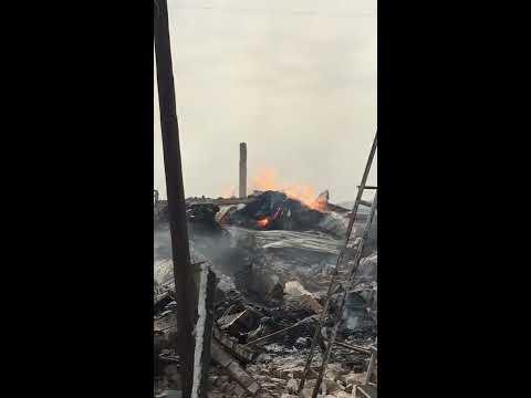 incendie au Park lambaye de Pikine