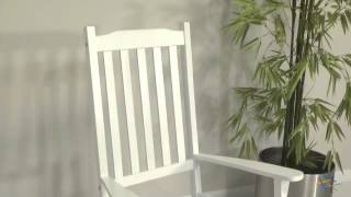 Coral Coast Indoor/outdoor Mission Slat Rocking Chair - White - Product Review Video