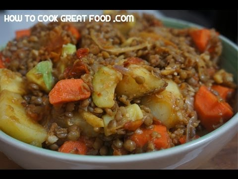 Lentil Hotpot Recipe Vegan Ginger & Vegetable stew casserole